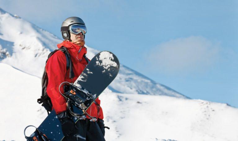 man in complete ski gear