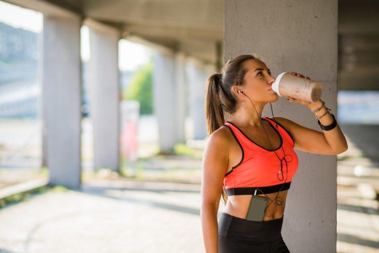 jogger drinking coffee