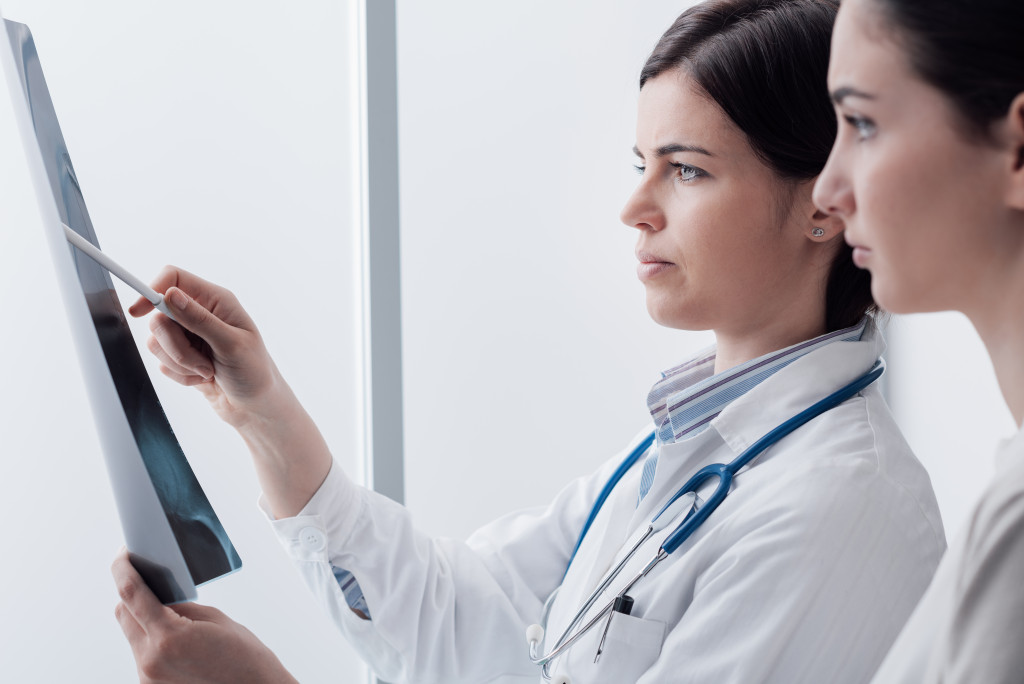 doctor with a patient